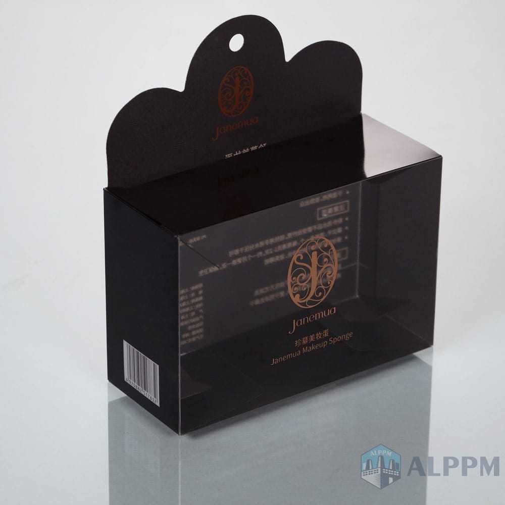 Retail plastic clear On-Demand transparent Box for Cosmetic