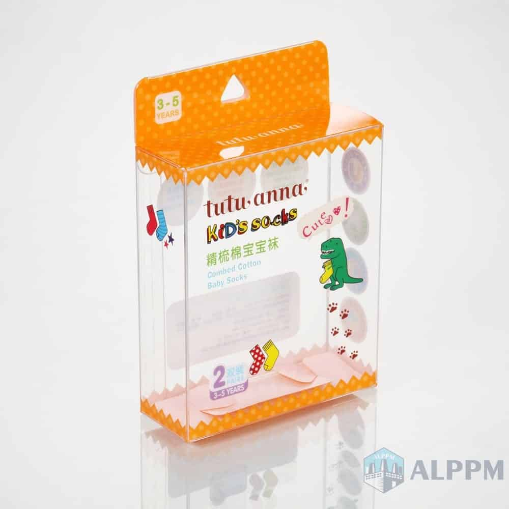 Folding Transparent Retail PP/PVC/PET tutu anna Storage Packaging Box for Clothing Packaging