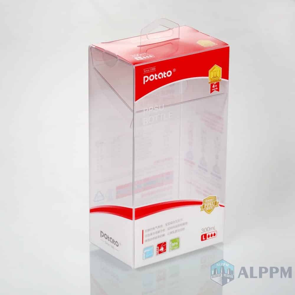 Wholesale Retail Folding Box Rectangular Clear PP/PVC/PET Plastic Storage Box for Baby Products