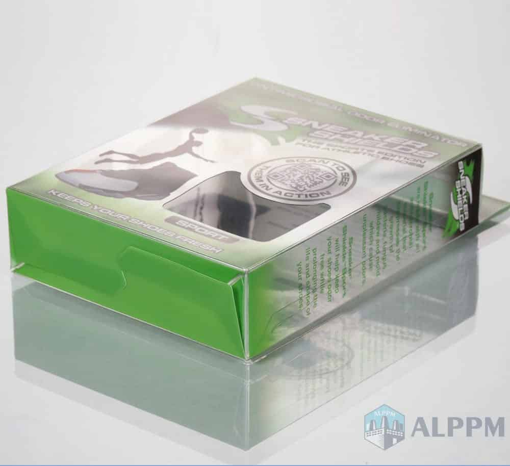 Foldable Custom Red PVC Clear Plastic Box for Clothing Packing Box