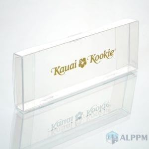 PVC transparent plastic box for Kauai Kookie(transparent box suppliers)