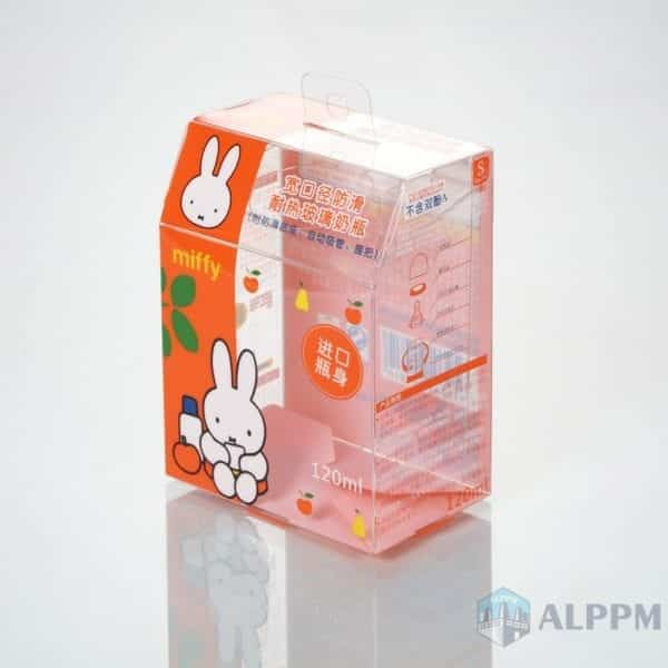 OEM PET Eco-friendly plastic box for Miffy(Silk-screen printing)