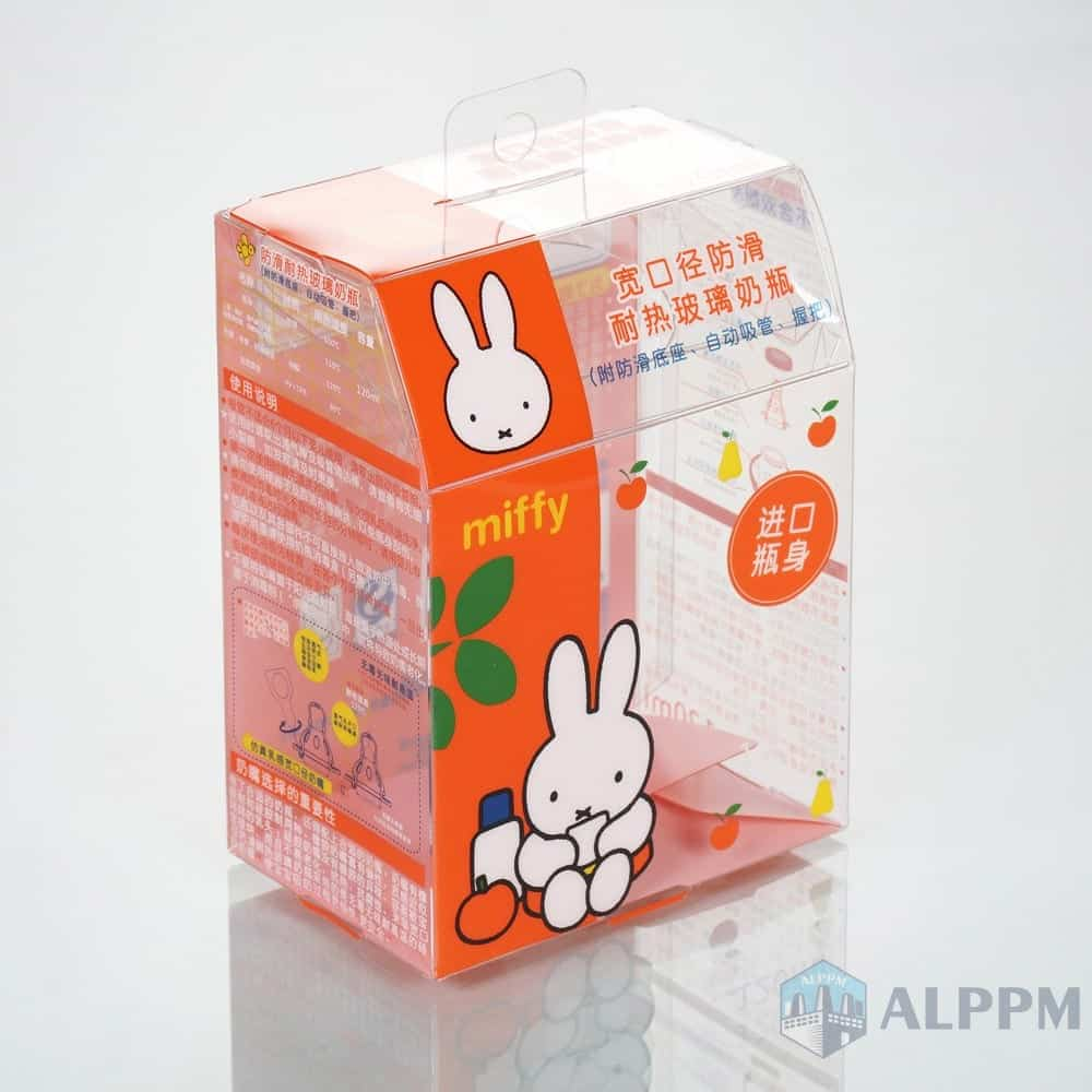 Baby PET OEM miffy eco-friendly plastic box