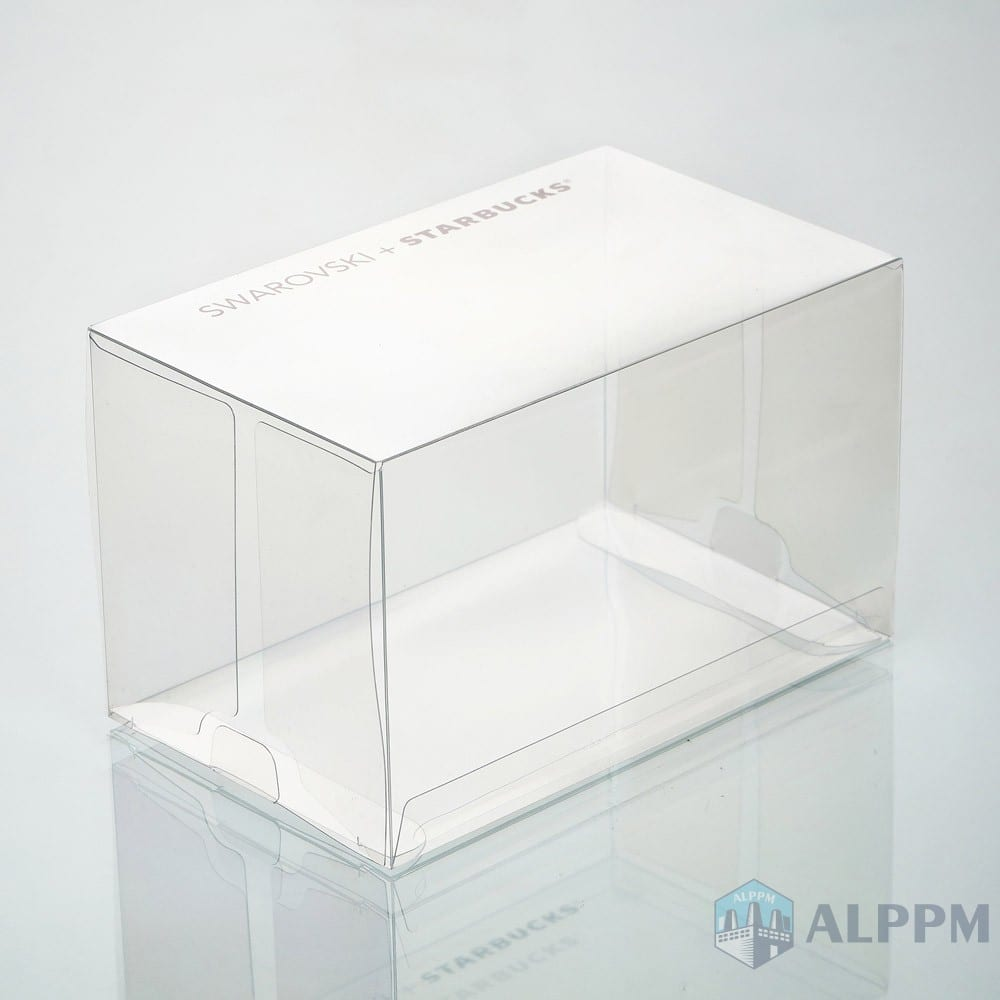 customized pvc/pet/pp packing for SWAROVSKI+STARBUCKS clear plastic box