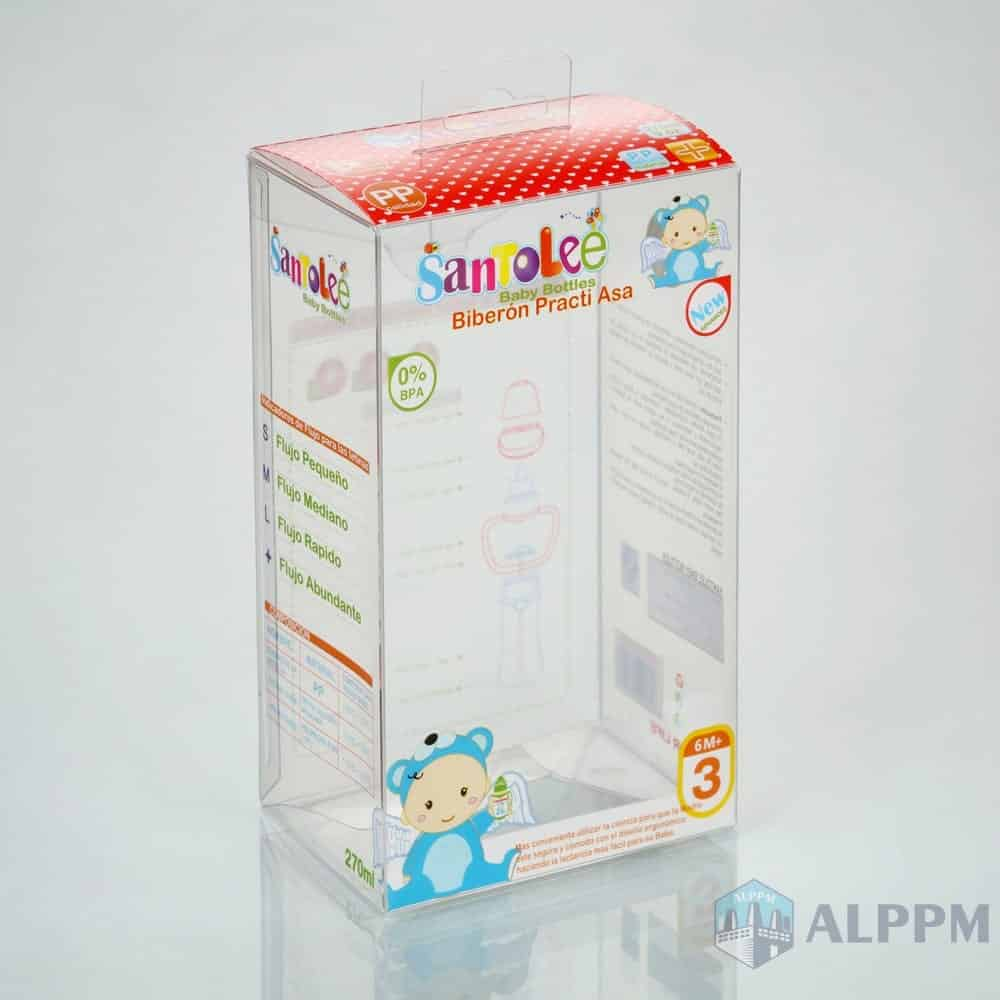 WIDE-NECK Retail Custom Clear PP/PVC/PET Packaging Box for Baby Products