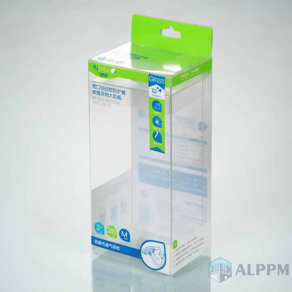 Clear Retail Rectangular Flybaby Box PP/PVC/PET Plastic Packaging Box for Baby Products