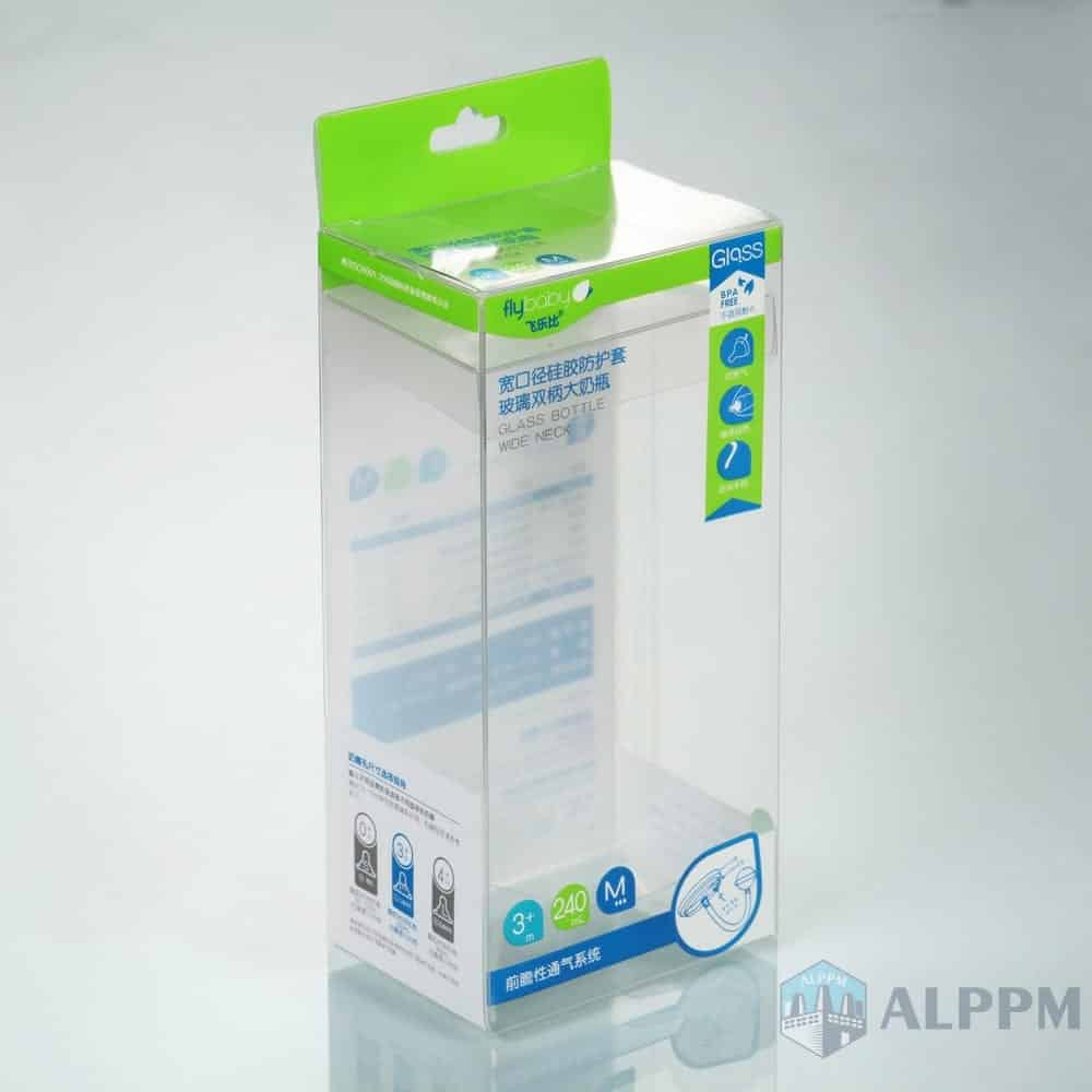 Baby Products Clear pərakəndə düzbucaqlı Flybaby Box PP / PVC / PET Plastic Packaging Box