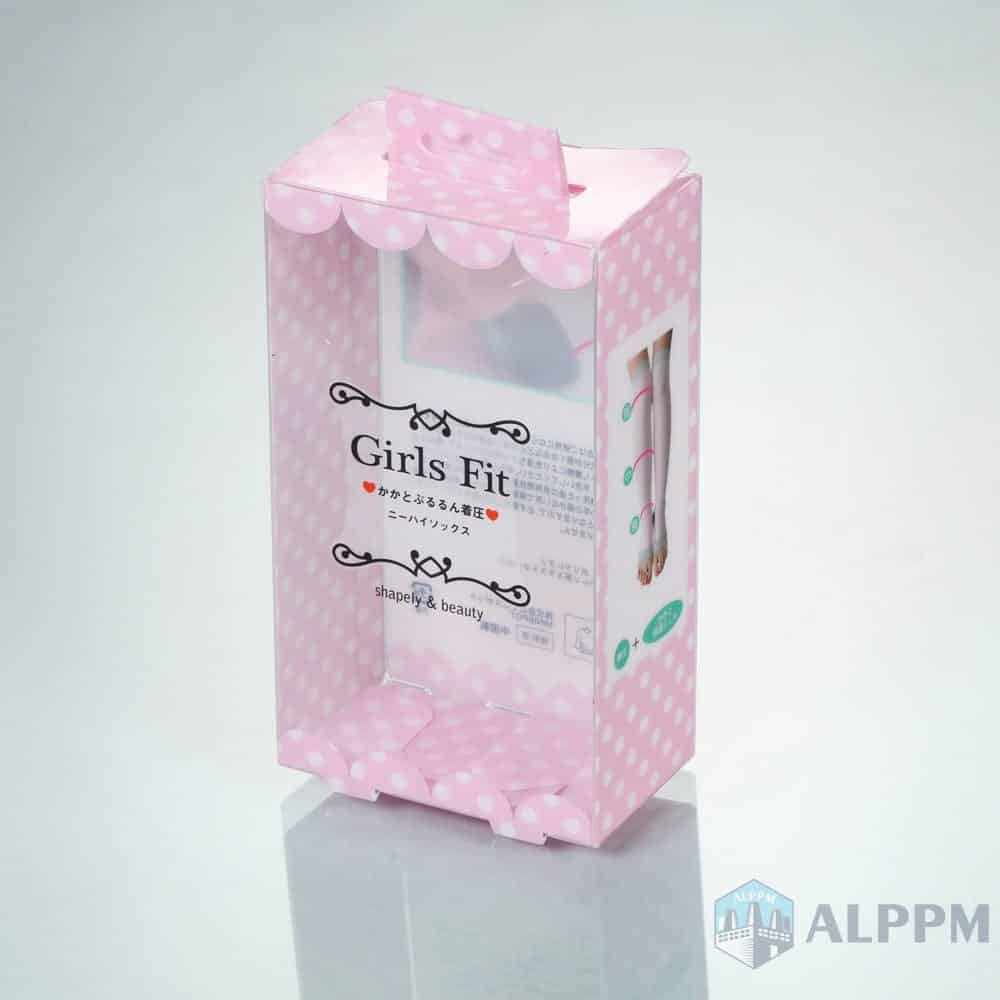 Cute Clear Retail Custom Pink Plastic Box for Clothing Products Packing Box