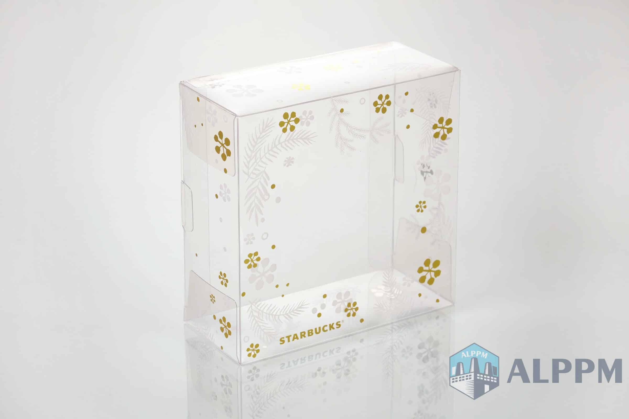スターバックス用の透明なプラスチック製ギフトボックス