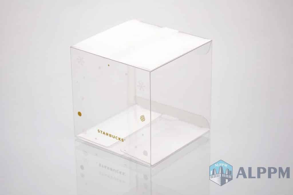 clear plastic gift boxes for Starbucks
