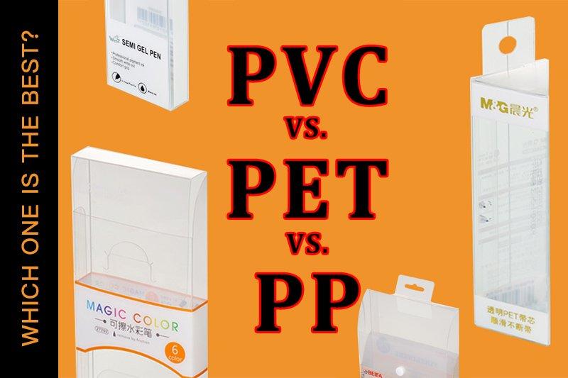 PVC vs PET vs PP | Quel matériau dois-je utiliser pour l'emballage?