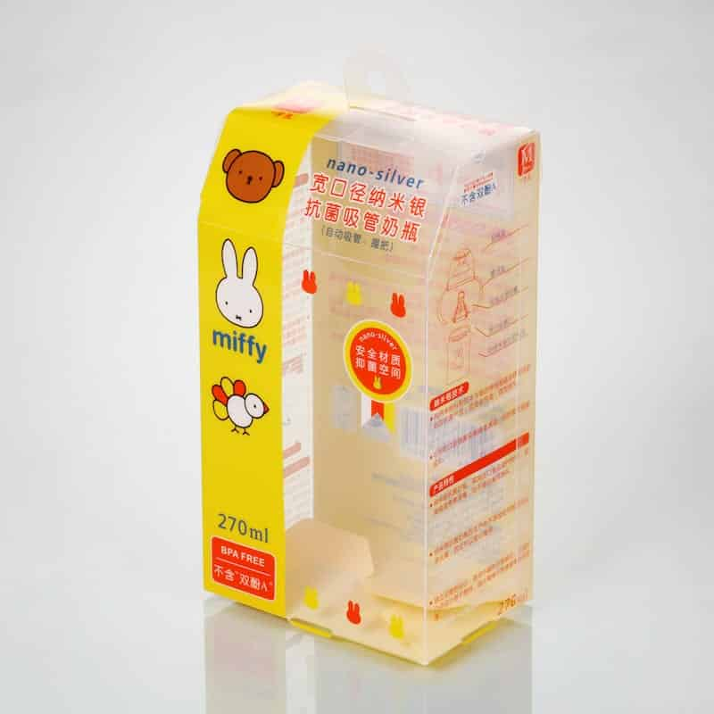 clear plastic boxes for baby care products