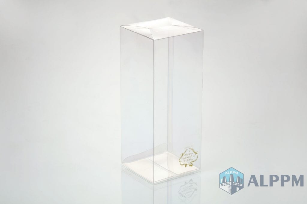 transparent plastic box with logo