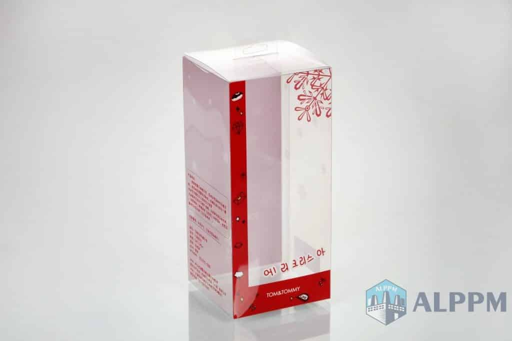 clear plastic gift red boxes